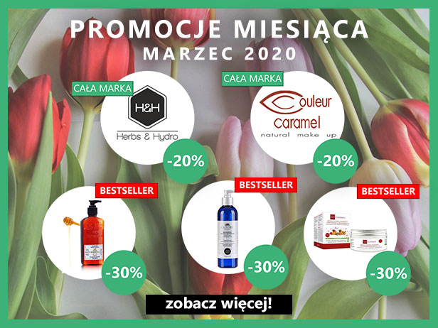 Promocje marca! -20% Herbs&Hydro, -20% Couleur Caramel