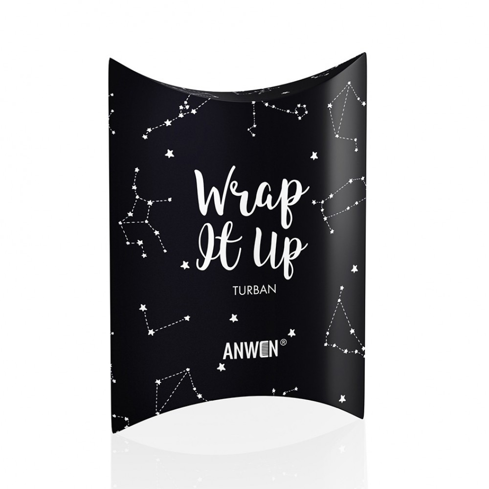Turban Wrap it up - czarny | Anwen